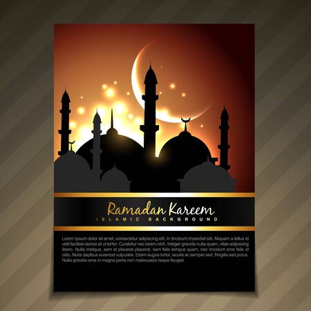 namaz: vector illustration of ramadan festival template design
