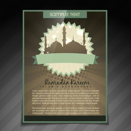 vector illustration of ramadan kareem brochure Vector