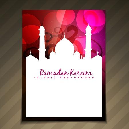 beautiful islamic festival vector template design Vector