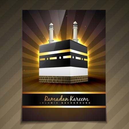 masjid: vector illustration of ramadan festival template design