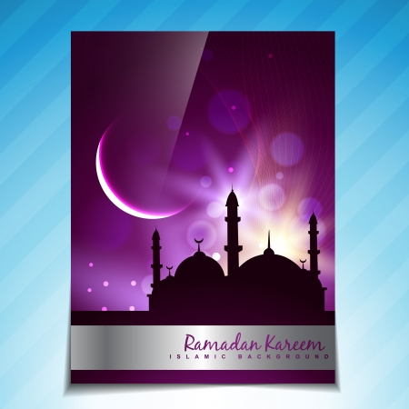 namaz: beautiful islamic festival vector template design