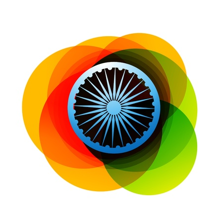 indian flag design background Vector