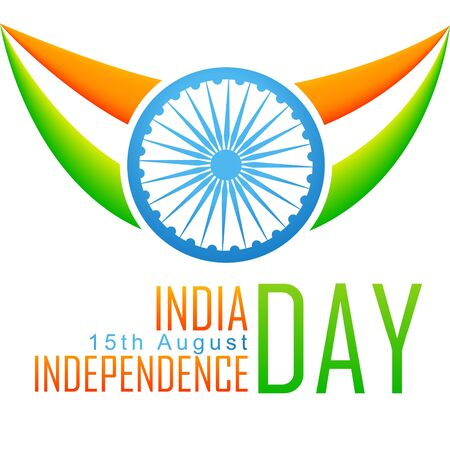 patriotic indian flag design Vector