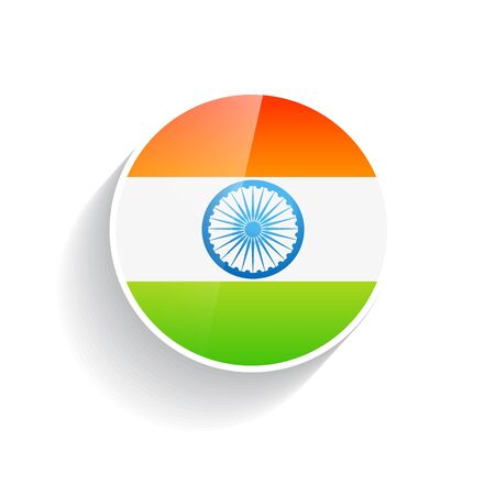 15 august: stylish indian flag in circular design