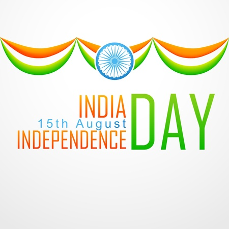 aug: stylish indian flag design illustration