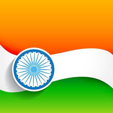 beautiful stylish indian flag design Vector