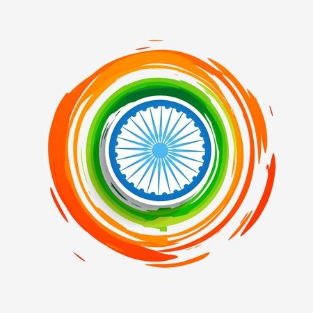 スタイリッシュな創造的なインドの旗の設計