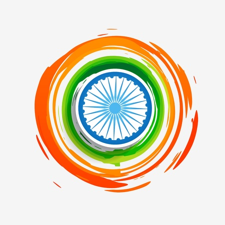 bharat: stylish creative indian flag design
