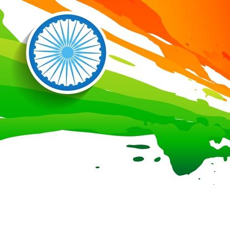 paint style indian flag design Illustration