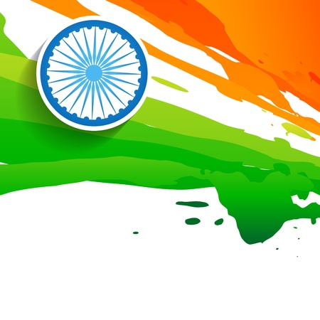 15 august: paint style indian flag design Illustration