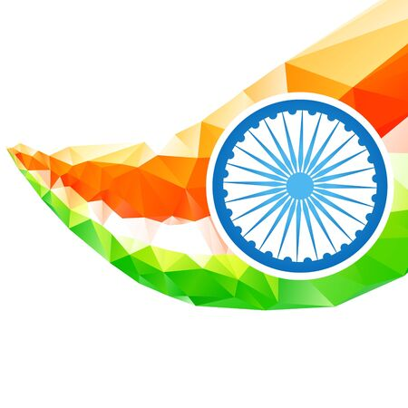 artistic style Indian flag design Vector