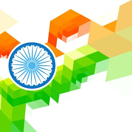 bharat: creative indian flag design background