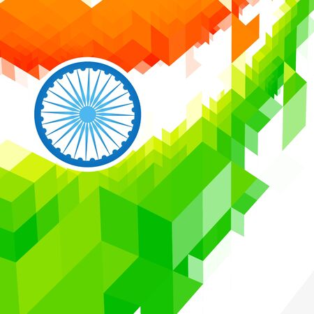 background of indian flag desgin Vector