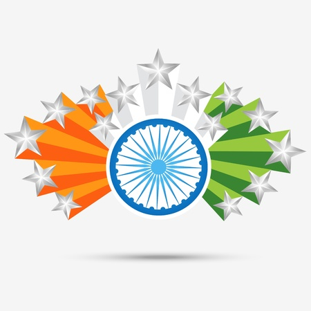 the concept of independence: stylish design indian flag