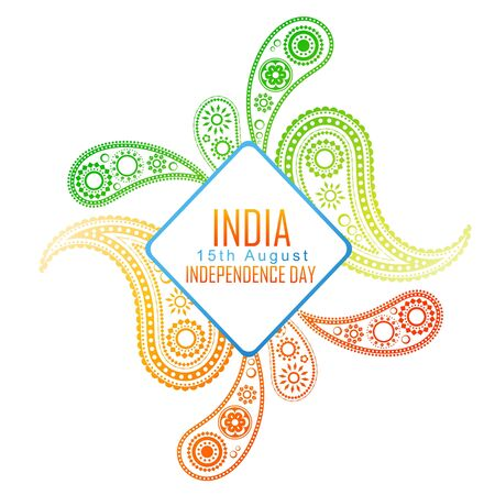 creative indian flag design background Vector
