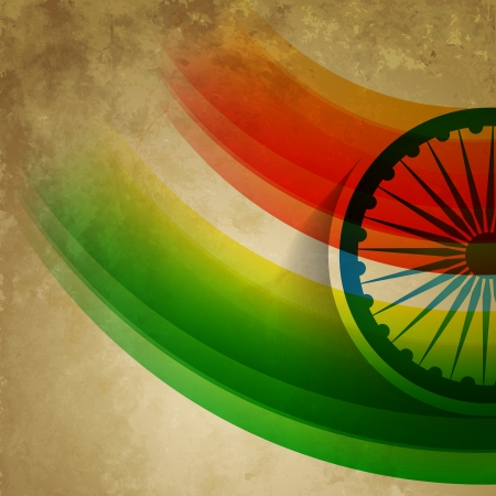 26: grunge style indian flag design