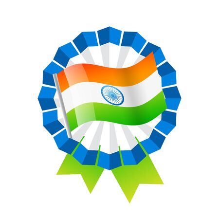 indian flag badge design Vector