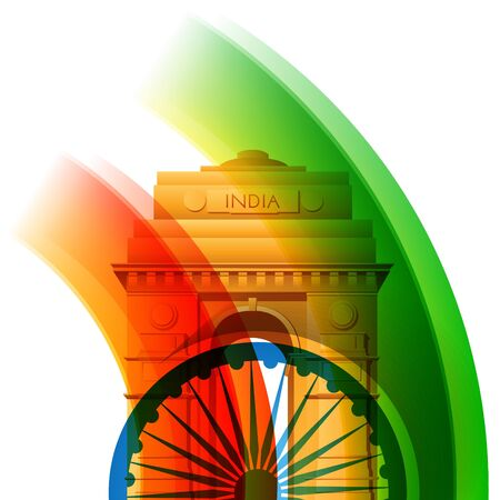 beautiful stylish indian flag background design Vector