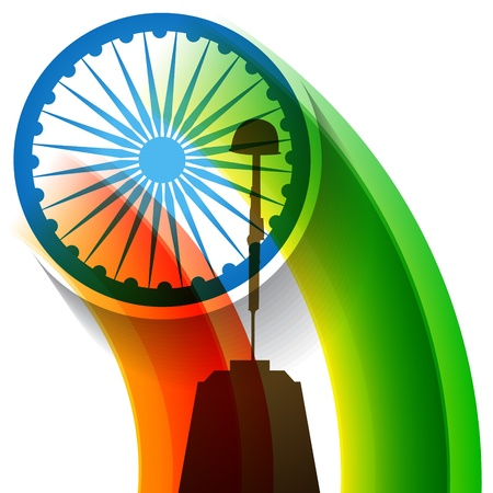 bharat: indian flag patriotic background design