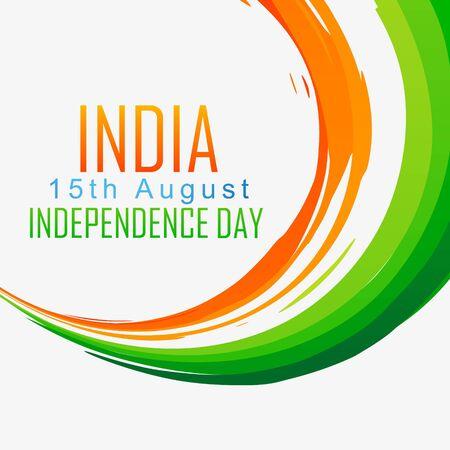 agosto: indian onda bandiera art design