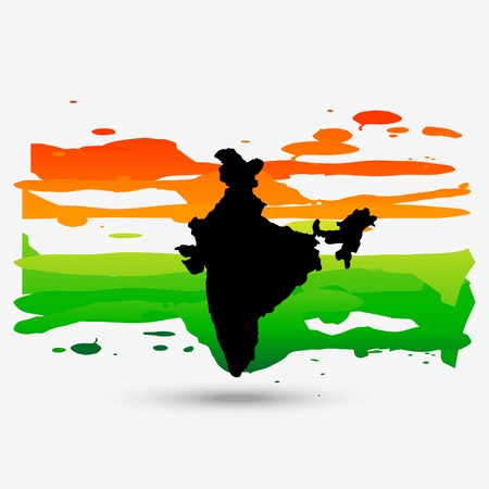 bharat: patriotic indian flag design Illustration
