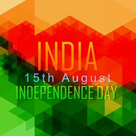 hindustan: abstract style indian independence day design Illustration