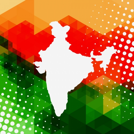 hindustan: abstract style indian map background