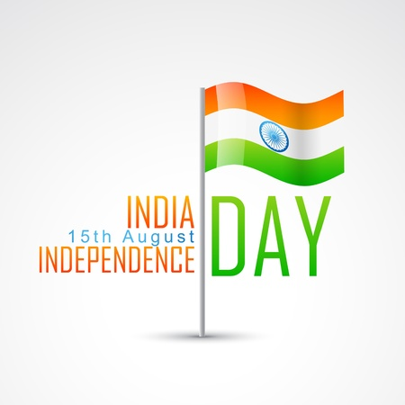 indian independence day design with flag