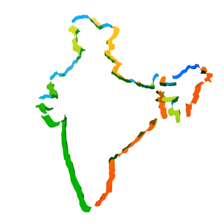 india culture: stylish map of india
