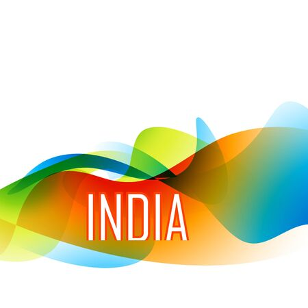 beautiful indian flag wave style background Vector