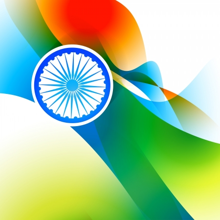 hindustan: beautiful indian flag wave style background