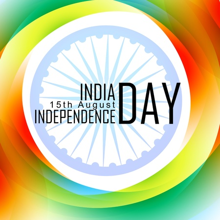 indian independence day design with flag Vector
