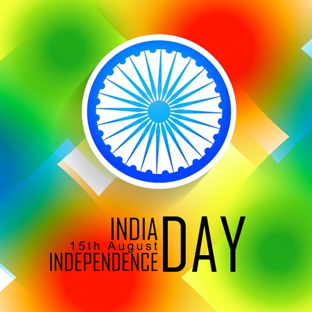 colorful indian independence day background Vector