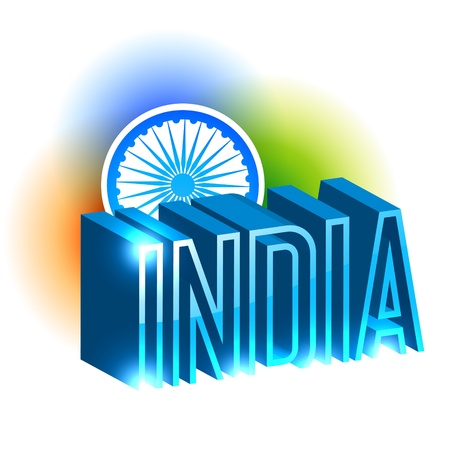 beautiful indian flag background design Vector