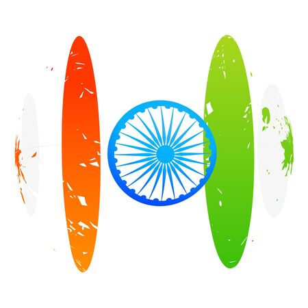 bharat: creative indian flag design art