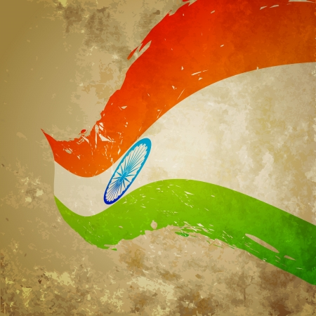 bharat: wave style indian flag background