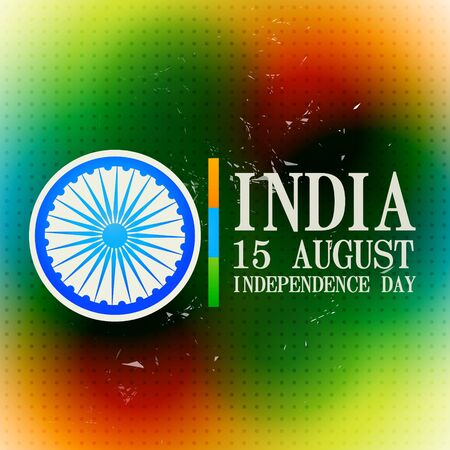 stylish indian independence day background design Vector