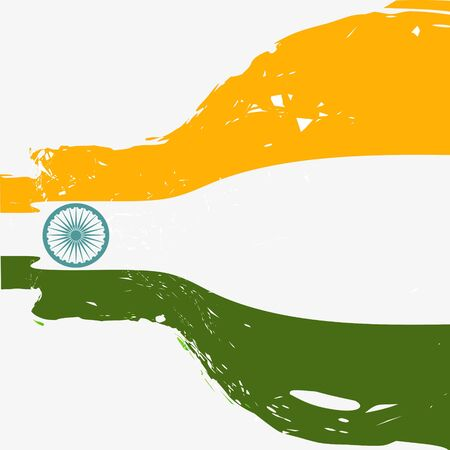 15 august: beautiful indian flag background design Illustration