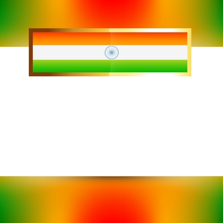 hindustan: indian flag with space for your text