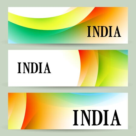 stylish set of indian headers Illustration