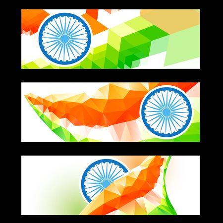 creative style indian headers set Vector