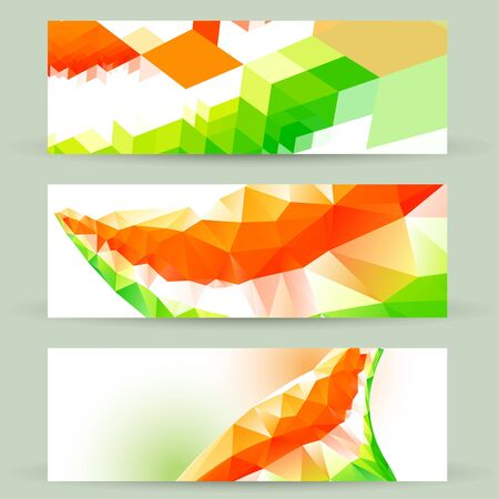 hindustan: colorful set of indian flag headers