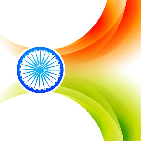 bharat: indian flag backgorund design