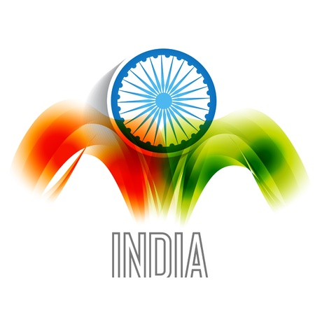 indian flag backgorund design Vector