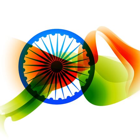 26: abstract indian flag background design Illustration