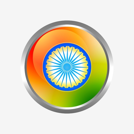indian flag label design Vector