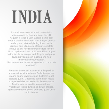 indian flag background design with space for your text Vector