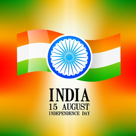 indian independence day design background Vector