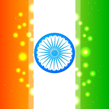 beautiful shiny indian flag background Illustration