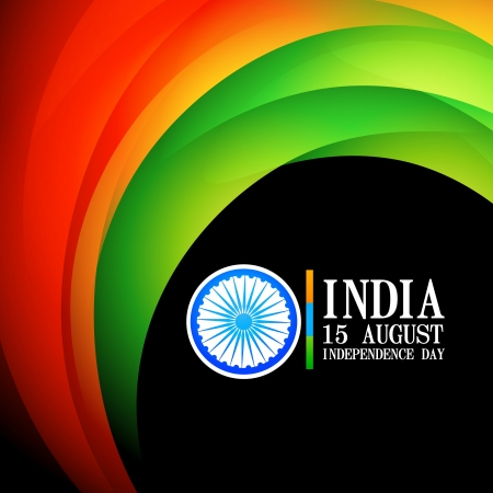 indian flag wave style background Vector